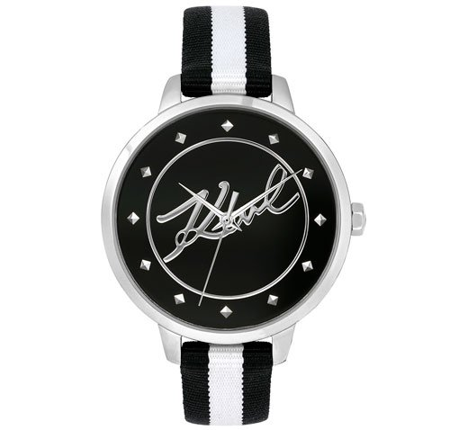 Karl Lagerfeld Watch Signature Striped Nato